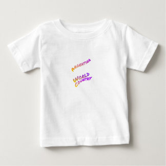 Argentina world country, colorful text art baby T-Shirt