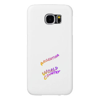 Argentina world country, colorful text art samsung galaxy s6 cases