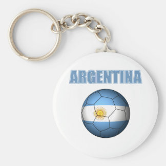 Argentina World Cup t-Shirt Basic Round Button Key Ring