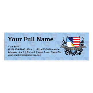 Argentine-American Shield Flag Double-Sided Mini Business Cards (Pack Of 20)