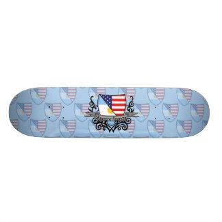 Argentine-American Shield Flag Skate Board Deck