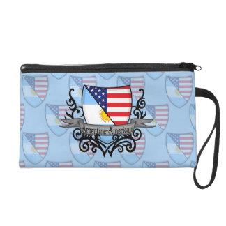 Argentine-American Shield Flag Wristlet Clutches