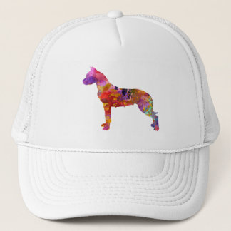 Argentine bulldog 01 in watercolor-2 trucker hat