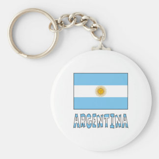 Argentine Flag and Argentina Key Ring
