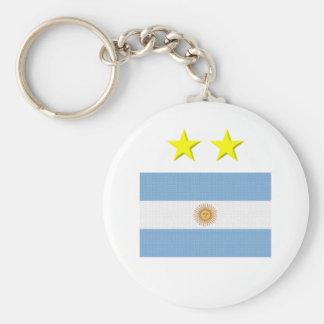 Argentine Footie Basic Round Button Key Ring