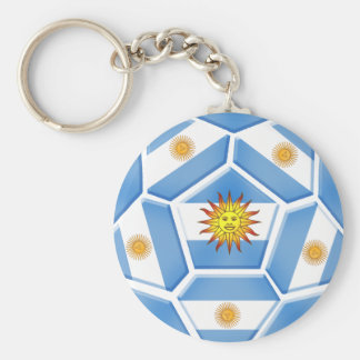 Argentine futebol Tees and soccer ball gear Basic Round Button Key Ring