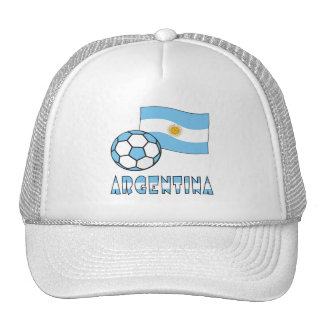 Argentine Soccer Ball and Flag Cap