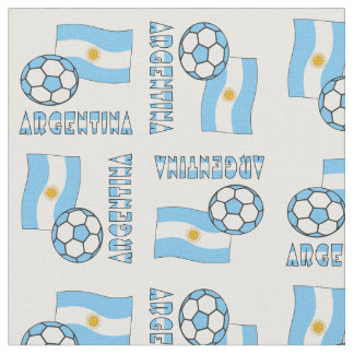 Argentine Soccer Ball and Flag Fabric