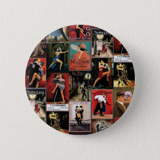 Argentine tango 6 cm round badge