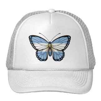 Argentinian Butterfly Flag Mesh Hats