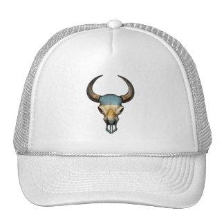 Argentinian Flag Bull Skull Mesh Hats