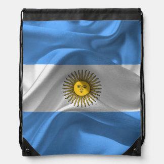 Argentinian flag drawstring bag