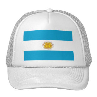 Argentinian flag hats