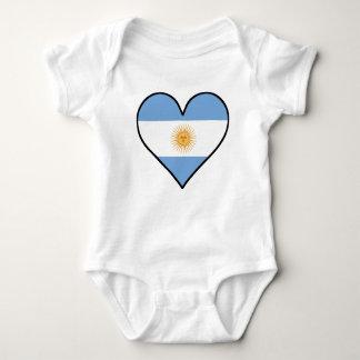 Argentinian Flag Heart Baby Bodysuit