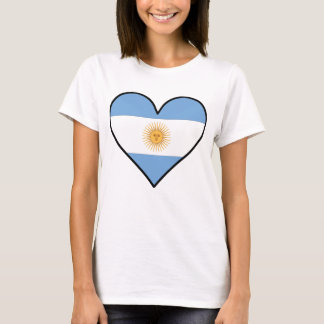 Argentinian Flag Heart T-Shirt