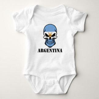 Argentinian Flag Skull Argentina Baby Bodysuit