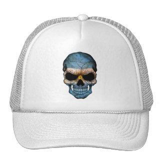 Argentinian Flag Skull Trucker Hat