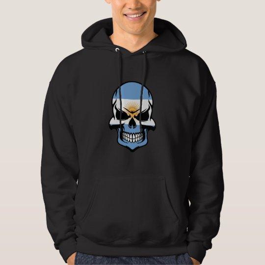 Argentinian Flag Skull Hoodie