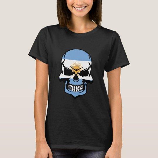 Argentinian Flag Skull T-Shirt