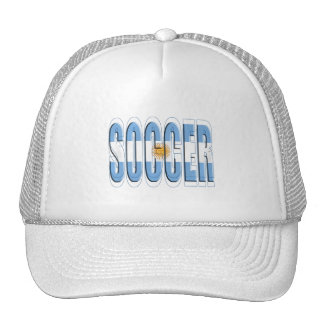 Argentinian flag Soccer Worded logo futbol gifts Mesh Hats