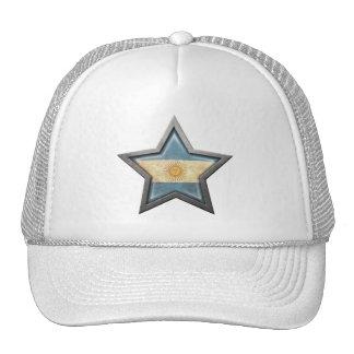 Argentinian Flag Star Trucker Hats