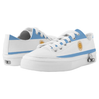 Argentinian Flag tennis shoes Printed Shoes