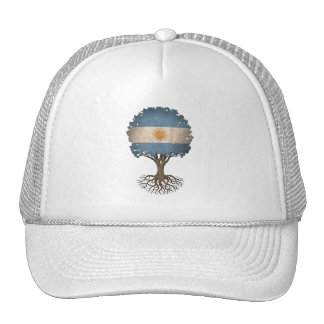 Argentinian Flag Tree of Life Customizable Hats