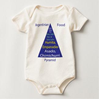 Argentinian Food Pyramid Baby Bodysuit