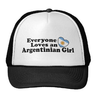 Argentinian Girl Mesh Hats