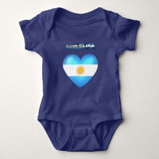 Argentinian heart baby bodysuit