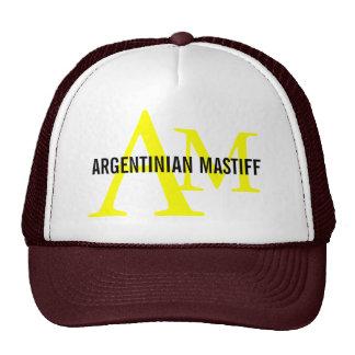 Argentinian Mastiff Breed Monogram Design Mesh Hats