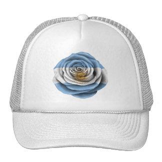Argentinian Rose Flag on Black Hats