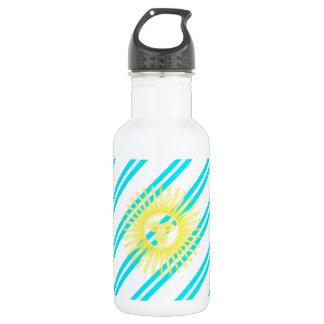 Argentinian stripes flag 532 ml water bottle