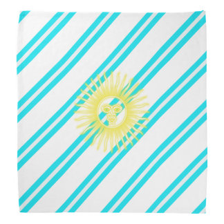 Argentinian stripes flag bandana