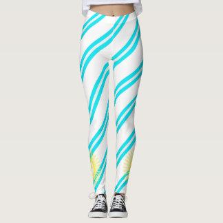 Argentinian stripes flag leggings