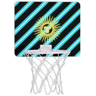 Argentinian stripes flag mini basketball hoop