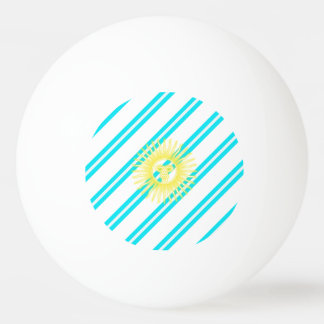 Argentinian stripes flag ping pong ball