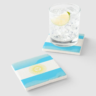 Argentinian Sun of May Stone Coaster