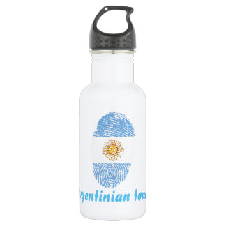 Argentinian touch fingerprint flag 532 ml water bottle