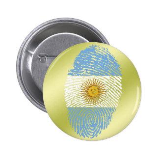Argentinian touch fingerprint flag 6 cm round badge