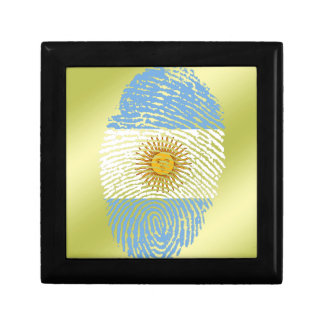 Argentinian touch fingerprint flag gift box