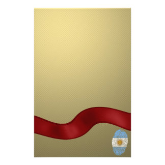 Argentinian touch fingerprint flag personalized stationery