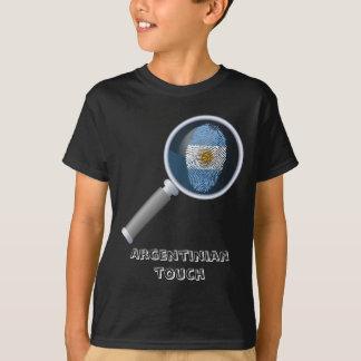 Argentinian touch fingerprint flag T-Shirt