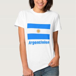 Argentinien Flagge mit deutschem Namen Tee Shirt