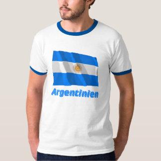 Argentinien Fliegende Flagge mit deutschem Namen Tshirt