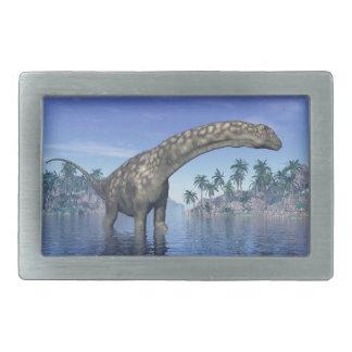 Argentinosaurus dinosaur - 3D render Belt Buckle