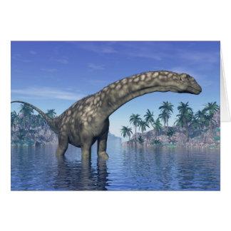 Argentinosaurus dinosaur - 3D render Card