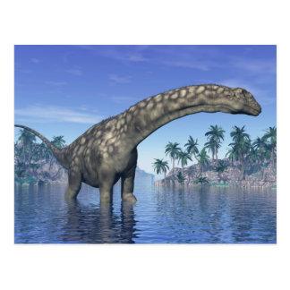 Argentinosaurus dinosaur - 3D render Postcard