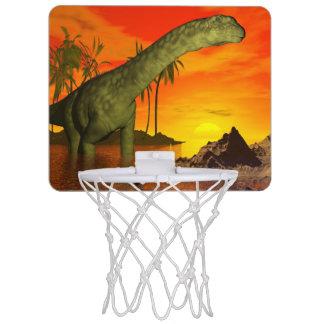 Argentinosaurus dinosaur by sunset - 3D render Mini Basketball Hoop