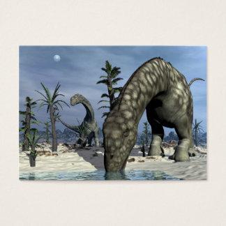 Argentinosaurus dinosaur drinking business card